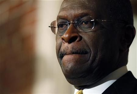 Republican presidential candidate and businessman Herman Cain listens to a question from a reporter during a news conference in Manchester, New Hampshire November 30, 2011.  REUTERS/Brian Snyder