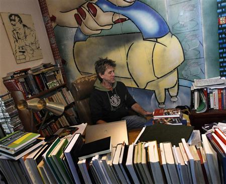 Jeff Ferrell, a professor of sociology at Texas Christian University, is pictured in his home office in Fort Worth, Texas November 30, 2011.  REUTERS/Mike Stone