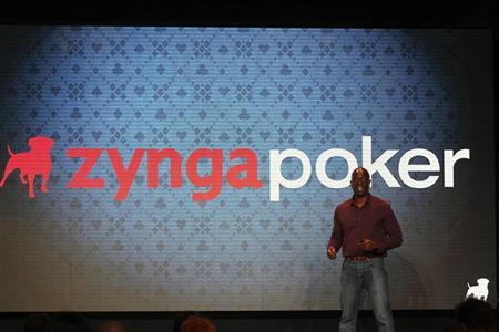 Zynga employee takes the stage at the Zynga Unleashed event at the company's headquarters in San Francisco, October 11, 2011. REUTERS/Stephen Lam