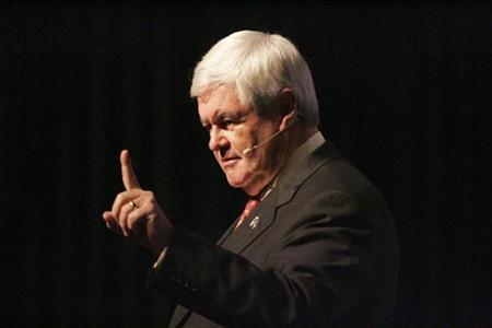 Republican presidential candidate and former U.S. House Speaker Newt Gingrich takes part in the ''First in the South Presidential Candidate Series'' during a town hall meeting in Newberry, South Carolina, November 29, 2011. REUTERS/Mary Ann Chastain