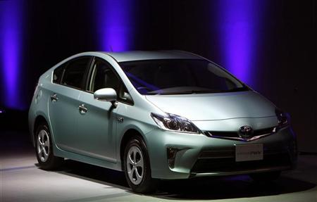 Toyota Prius PHV is seen at a news conference in Tokyo November 29, 2011.  REUTERS/Kim Kyung-Hoon