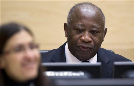 Former Ivory Coast President Laurent Gbagbo waits for the judges to arrive at the International Criminal Court (ICC) in The Hague, Netherlands, December 5, 2011.  REUTERS/Peter Dejong/Pool