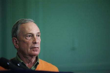 New York City Mayor Michael Bloomberg speaks during a news conference to announce the arrest of Jose Pimentel in New York November 20, 2011.  REUTERS/Eduardo Munoz
