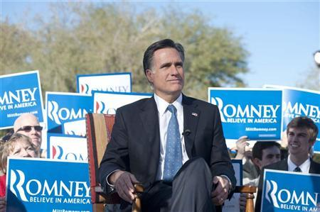 Republican presidential candidate former Massachusetts Governor Mitt Romney attends an endorsement event at the Hermosa Inn in Paradise Valley, Arizona December 6, 2011.    REUTERS/Laura Segall