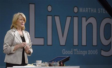 Martha Stewart speaks to the audience at her trade show, called ''Good Things'', in New York September 30, 2006.  REUTERS/Chip East