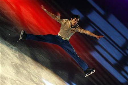 Patrick Chan of Canada perform during the gala exhibition in the Bompard Trophy event at Bercy in Paris, November 20, 2011. REUTERS/Gonzalo Fuentes