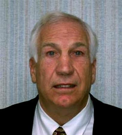 Former Penn State football defensive coordinator Jerry Sandusky is pictured in this November 5, 2011 police photograph obtained on November 7, 2011.  REUTERS/Pennsylvania State Attorney General's Office/Handout