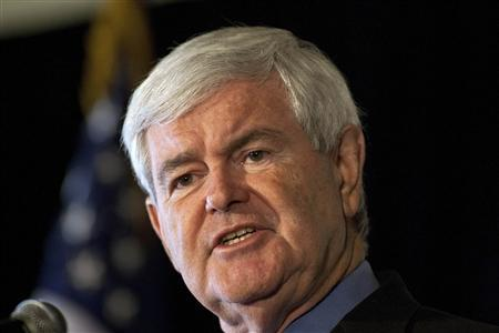 Republican presidential candidate and former House of Representatives Speaker Newt Gingrich speaks at a forum for local business leaders at the Pacific Gateway Capital Group in Greenville, South Carolina December 8, 2011. REUTERS/Chris Keane