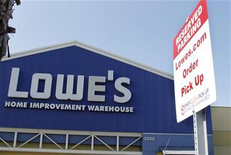 A specially designated parking spot for Lowes.com shoppers is pictured in the parking lot at the Lowe's Home Improvement Warehouse in Burbank, California August 15, 2011. REUTERS/Fred Prouser