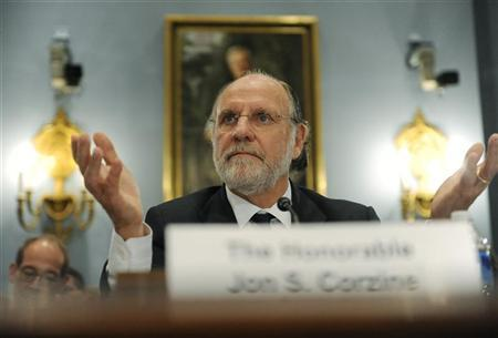 Former MF Global CEO Jon Corzine testifies about the firm's bankruptcy during a hearing before the U.S. House Agriculture Committee on Capitol Hill in Washington, December 8, 2011. REUTERS/Jonathan Ernst