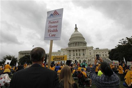 People with disabilities rally at the Capitol in Washington, September 21, 2011. REUTERS/Jason Reed