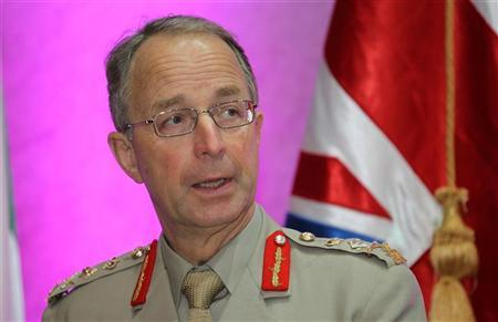 Britain's Chief of Defence Staff General David Richards attends a Conference of The Friends Committee in Support of Libya in Doha October 26, 2011. REUTERS/Mohammed Dabbous