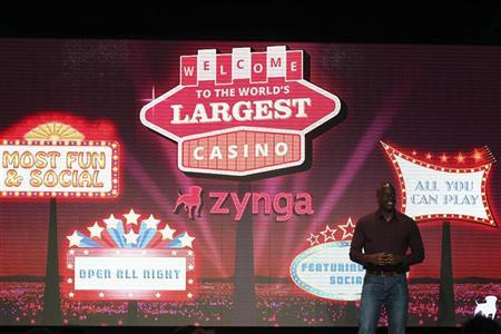 Zynga General Manager Lo Toney introduces Zynga Casino during the Zynga Unleashed event at the company's headquarters in San Francisco, California October 11, 2011. REUTERS/Stephen Lam