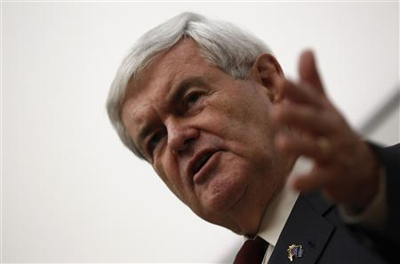 U.S. Republican presidential candidate and former Speaker of the House Newt Gingrich speaks about brain science research during a campaign stop at the University of Iowa College of Public Health Medical Education Research Facility in Iowa City, Iowa, December 14, 2011.  REUTERS/Jim Young