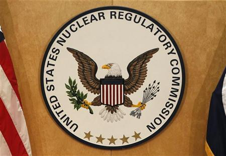 A U.S. Nuclear Regulatory Commission sign is pictured at the headquarters building in Rockville, Maryland, March 21, 2011. REUTERS/Larry Downing