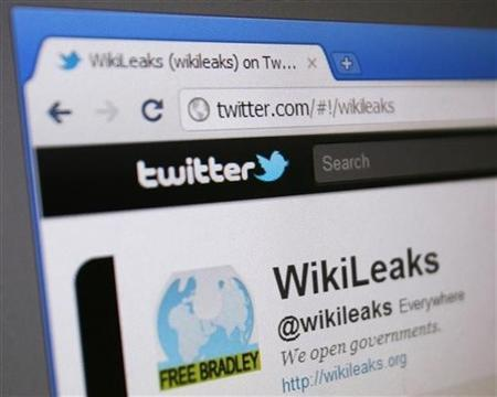 WikiLeaks' Twitter page is seen on a computer screen in Singapore January 9, 2011. REUTERS/Tim Chong /Files