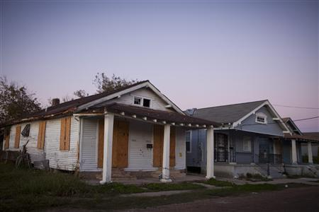 A blighted house sits boarded up in the St. Roch neighborhood of New Orleans, Louisiana December 1, 2011. REUTERS-Lee Celano