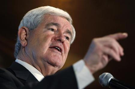 Republican presidential candidate and former U.S. House Speaker Newt Gingrich speaks at a meet and greet session at the Willow Ridge Golf Course in Fort Dodge, Iowa, December 15, 2011. REUTERS/Jeff Haynes