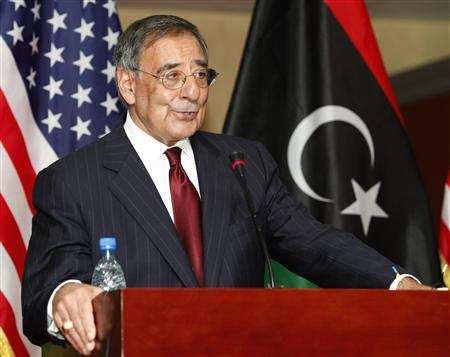 U.S. Defense Secretary Leon Panetta speaks at a news conference in Tripoli December 17, 2011.   REUTERS/Ismail Zitouny