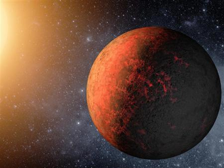 An artist's rendering shows a planet called Kepler-20e. The surface temperature of Kepler-20e, at more than 1,400 degrees Fahrenheit, would melt glass. REUTERS/NASA/Ames/JPL-Caltech