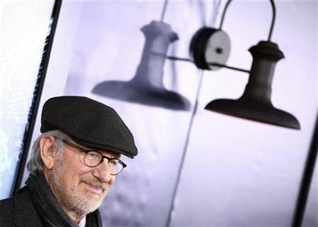 Director Steven Spielberg arrives for the premiere of the movie ''The Adventures of Tintin'' in New York December 11, 2011.  REUTERS/Carlo Allegri