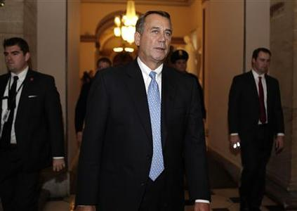 House Speaker John Boehner walks to his office after the House voting on Capitol Hill, December 20, 2011. REUTERS/Yuri Gripas