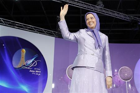 Maryam Rajavi, president-elect of the People's Mujahideen Organisation of Iran's (PMOI) political wing, the National Council of Resistance of Iran (NCRI), takes part in a rally in Villepinte, near Paris June 18, 2011. REUTERS/Benoit Tessier