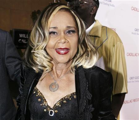 Jazz singer and songwriter Etta James arrives as a guest at the premiere of the film ''Cadillac Records'' in Hollywood, California, in this November 24, 2008 file photograph. REUTERS/Fred Prouser/Files