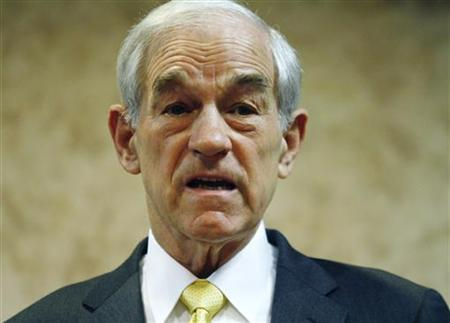 Republican presidential candidate U.S Representative Ron Paul (R-TX) speaks during a town hall meeting in Ft. Madison, Iowa December 21, 2011. REUTERS/Joshua Lott