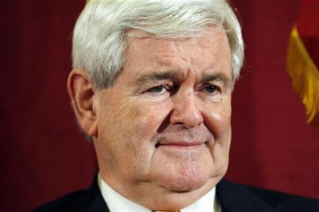 Republican presidential candidate and former U.S. Speaker of the House Newt Gingrich is seen during a campaign event in Manchester, New Hampshire December 21, 2011. REUTERS/Jessica Rinaldi