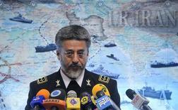 Iran's Navy Commander Habibulah Sayari holds a news conference in Tehran December 22, 2011.  REUTERS/Hamed Jafarnejad/Fars News