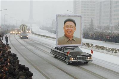 Snow and tears mark funeral for North Korean leader
