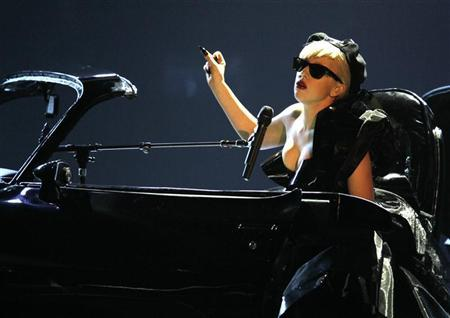 Lady Gaga performs after she received the Pop International Bambi award during the 63rd Bambi media awards ceremony in Wiesbaden, November 10, 2011. REUTERS/Wolfgang Rattay