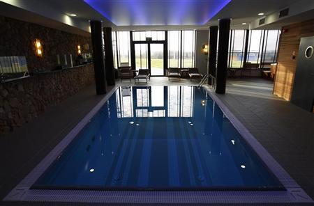 A view of a pool at a spa facility at Mistral Hotel in Gniewino, Poland November 30, 2011.  REUTERS/Peter Andrews