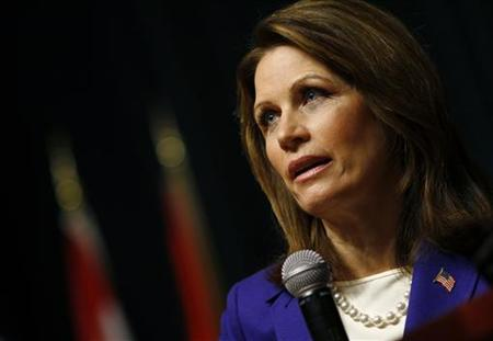 U.S. Republican presidential candidate and Representative Michele Bachmann (R-MN) speaks during a campaign event at Principal Financial Group in Des Moines, Iowa December 29, 2011. REUTERS/Joshua Lott