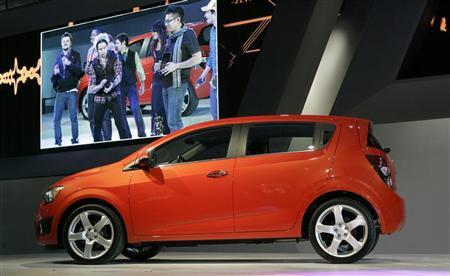 The Chevrolet 2012 Chevrolet Sonic five-door hatchback is shown during press preview days of the North American International Auto Show in Detroit, Michigan January 10, 2011.  REUTERS/Rebecca Cook