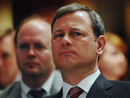 U.S. Supreme Court Chief Justice John Roberts attends the National Catholic Prayer Breakfast in Washington April 18, 2008. REUTERS/Jonathan Ernst