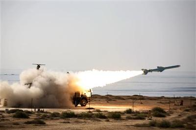 Iran test-fires missiles in Gulf exercise