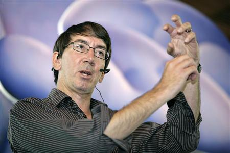 Game designer Will Wright speaks about his latest game SPORE at a promotion event in Singapore August 13, 2008. REUTERS/Tim Chong