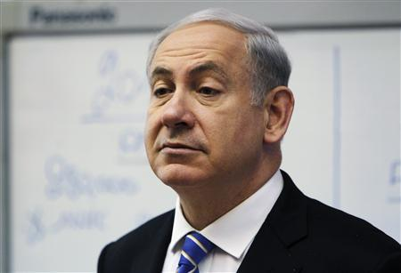 Israel's Prime Minister Benjamin Netanyahu attends the weekly cabinet meeting in Jerusalem January 1, 2012. REUTERS/Ronen Zvulun