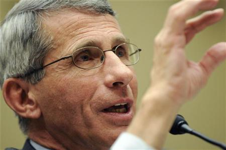 Anthony Fauci, Director of the National Institute of Allergy and Infectious Diseases at the National Institutes of Health, testifies during a hearing on ''Developments in Synthetic Genomics and Implications for Health and Energy'' by the House Energy and Commerce Committee on Capitol Hill in Washington, May 27, 2010. REUTERS/Jonathan Ernst