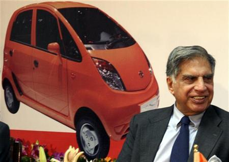 Chairman of Tata group Ratan Tata smiles during a news conference in Gandhinagar, about 25 km (16 miles) north of Ahmedabad, October 7, 2008. REUTERS/Amit Dave/Files