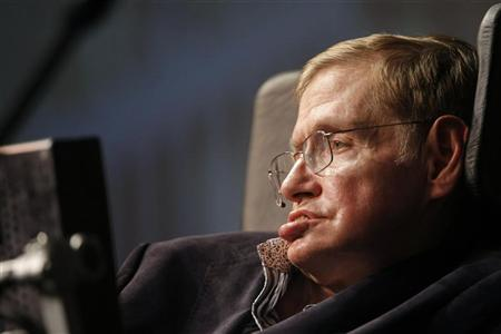 Theoretical physicist Stephen Hawking addresses a public meeting in Cape Town May 11, 2008. REUTERS/Mike Hutchings