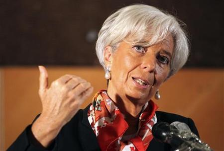International Monetary Fund director Christine Lagarde speaks during a conference on 'Africa's Future: Responding to Today's Global Economic challenges'' in Lagos December 20, 2011. REUTERS/Akintunde Akinleye