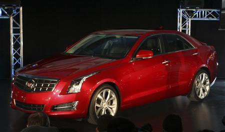 General Motors unveils the all-new 2013 Cadillac ATS vehicle at the College for Creative Studies in Detroit, Michigan January 8, 2012.  REUTERS/Rebecca Cook