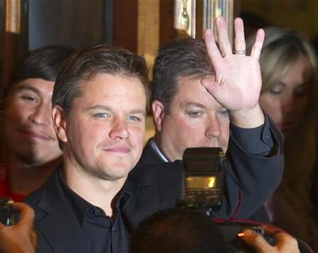 Actor Matt Damon arrives at the gala presentation for the film ''Hereafter'' during the 35th Toronto International Film Festival September 12, 2010. REUTERS/Fred Thornhill