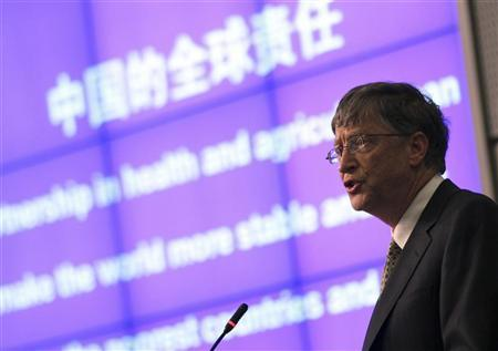 Microsoft Chairman Bill Gates delivers a speech at the Ministry of Science and Technology of People's Republic of China in Beijing December 7, 2011. REUTERS/China Daily