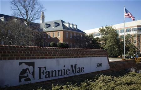 A sign in front of the Fannie Mae headquarters is photographed in Washington  February 11, 2011.  The Obama administration unveiled on Friday a plan to unwind the government-controlled mortgage buyers Fannie Mae and Freddie Mac.    REUTERS/Molly Riley