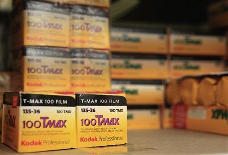 Rolls of Kodak TMax film are seen on a camera store shelf in New York January 5, 2012.  REUTERS/Brendan McDermid