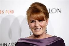 <p>Sarah Ferguson, Britain's Duchess of York, arrives at a benefit for the Elton John AIDS Foundation in New York October 26, 2011. REUTERS/Lucas Jackson</p>